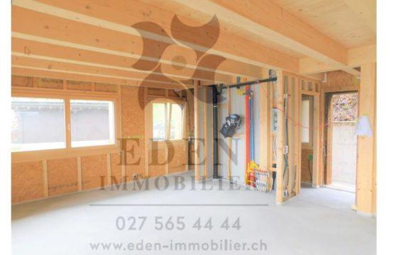 EDEN Immobilier | Vue imprenable | Chalet en Bois Neuf 4.5 pièces + 2 Pièces  | Garage | Les Giettes | Monthey
